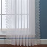 Deville Semi Sheer Lace Curtain Panel