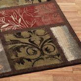 Leaf Landscapes Runner Rug Multi Warm 110 x 76
