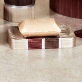 Modern Line Burgundy Soap Dish