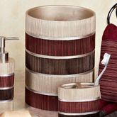 Modern Line Burgundy Wastebasket
