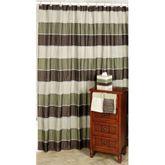 Modern Line Sage Shower Curtain