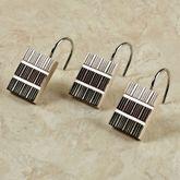 Modern Line Sage Shower Hook Set Set of Twelve
