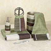 Modern Line Sage Towel Set Bath Hand Wash