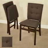 Parsons Folding Chairs Espresso Set of Two