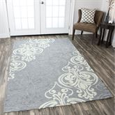 Elodie Rectangle Rug Gray
