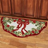 Happy Holly Slice Rug Red 60 x 30