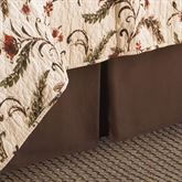 Autumn Bloom Kick Pleat Bedskirt Chestnut