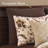 Autumn Bloom Piped European Sham Chestnut