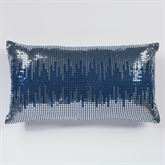 Beta Sequined Tailored Pillow Blue Shadow Rectangle