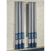 Beta Grommet Curtain Pair Blue Shadow