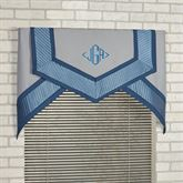 Beta Cornice Valance Set Blue Shadow Three Piece Set