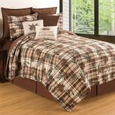 Lookout Lodge Plaid Mini Quilt Set Light Chocolate