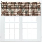 Lookout Lodge Plaid Tailored Valances Light Chocolate Set of Two