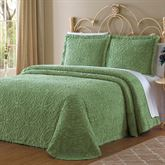 Wedding Ring Chenille Bedspread Light Green