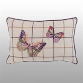 Delilah Embroidered Butterfly Pillow Multi Warm Rectangle