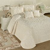 Laurent Grande Bedspread Set Ecru