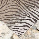 Selous Zebra Square Rug Sand 710 Square