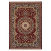 Ensel Rectangle Rug Burgundy