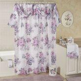 Michelle Semi Sheer Shower Curtain White 72 x 72