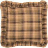 Prescott Ruffled Pillow Multi Warm 16 Square