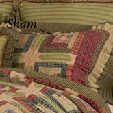 Tea Cabin Ruffled Patchwork Quilted Sham Multi Earth