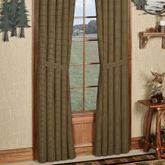 Tea Cabin Tailored Curtain Pair Multi Earth 80 x 84