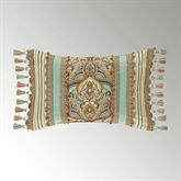 Victoria Pieced Tasseled Tailored Pillow Jade Rectangle