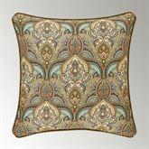 Victoria Piped Damask Pillow Jade 20 Square