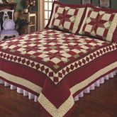 Scarlet Patchwork Quilt Dark Red