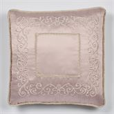 Princess Corded Embroidered Pillow Blush 20 Square