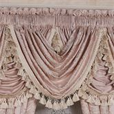 Princess Jacquard Scrollwork Waterfall Valance Blush 52 x 30