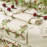 Holiday Holly Table Runner Natural