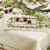Holiday Holly Placemats Natural Set of Four