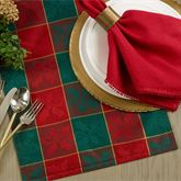 Holly Plaid Table Runner Red/Green