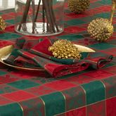 Holly Plaid Napkins Red/Green Set of Four