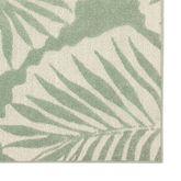 Tropical Frond Rug Runner Pale Aqua 110 x 76