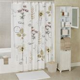 Pressed Leaves Shower Curtain Multi Warm 72 x 72