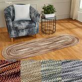 Ombre Chenille Braided Oval Rug Runner 2 x 6