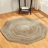 Ombre Chenille Braided Octagon Rug 6 Octagon