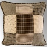 Kettle Grove Patchwork Quilted Pillow Multi Warm 16 Square