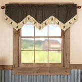 Kettle Grove Star Valance Multi Warm 60 x 20