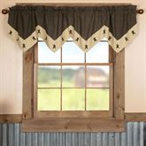Kettle Grove Wide Star Valance Multi Warm 72 x 20
