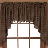 Kettle Grove Plaid Prairie Swag Valance Multi Warm 72 x 36