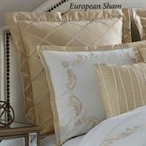 Avenal Embroidered European Sham Champagne