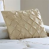 Avenal Ruched Tailored Pillow Champagne Rectangle