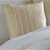 Avenal Pleated Tailored Pillow Champagne 16 Square