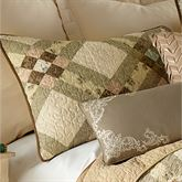 American Beauty Patchwork Quilted Sham Multi Warm Standard