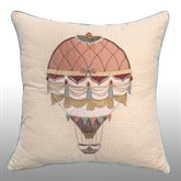 American Beauty Piped Embroidered Pillow Multi Warm 18 Square