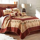 Pine Lodge Rustic Quilt Mahogany