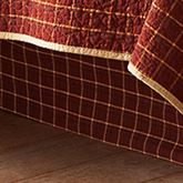 Pine Lodge Tailored Plaid Bedskirt Mahogany